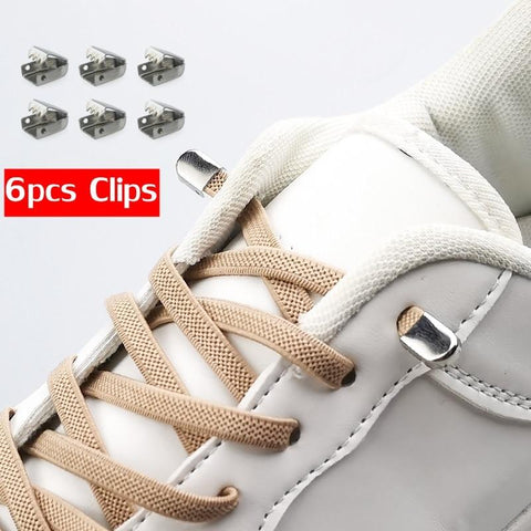 Elastic No Tie Shoelaces, 1 Pair-Shoelaces-LeStyleParfait.Com
