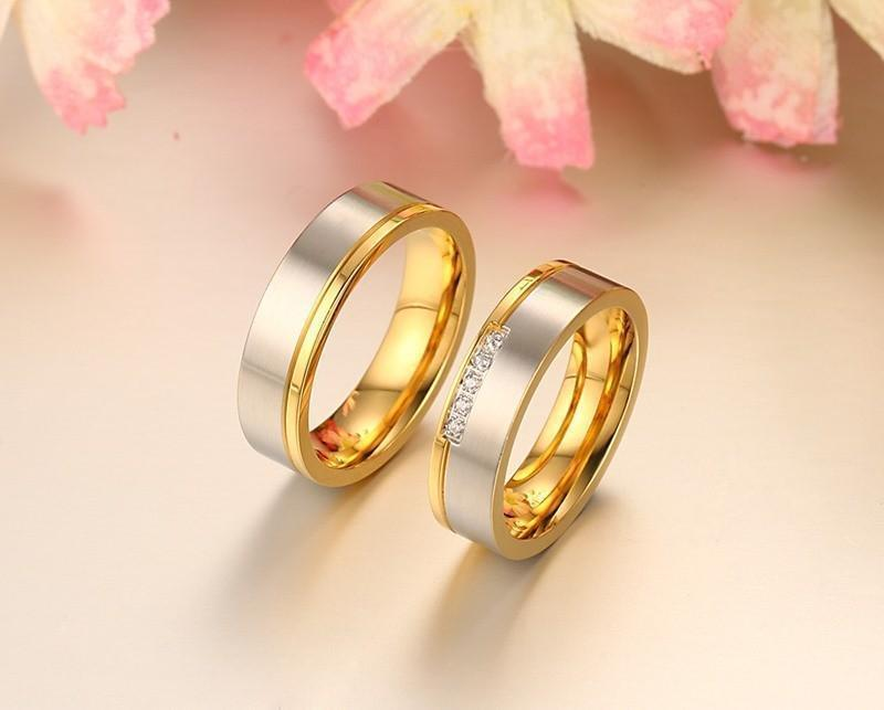 Elegant Wedding Rings Gold Silver Color-Rings-LeStyleParfait.Com