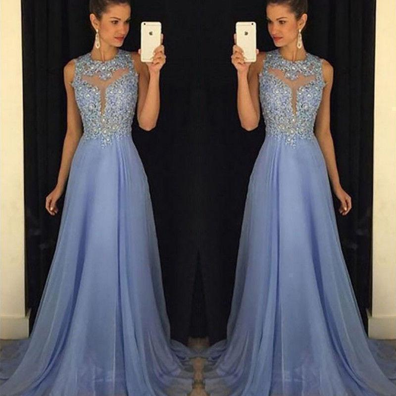 Evening Dress Women Party Ball Gown Dress Sleeveless Maxi Dress-Dress-LeStyleParfait.Com