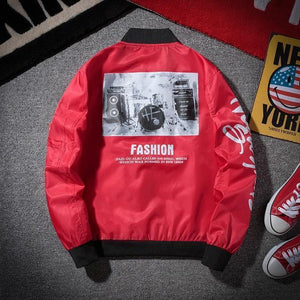 Face Off Motorcycle Bomber Jacket-Jacket-LeStyleParfait.Com