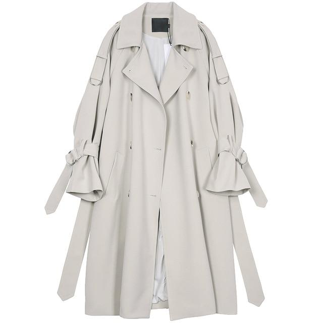 Flared Sleeves Trench Coat For Women-Coat-LeStyleParfait.Com