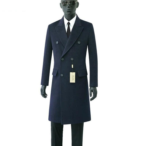 Gentleman Double Breast Wool Coat-Coat-LeStyleParfait.Com