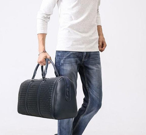 Genuine Leather Travel Bags For Men Bag LeStyleParfait.Com