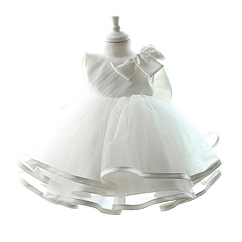Girl's Dress, Baptism Christening Tulle Party Dress-Girls Dresses-LeStyleParfait.Com