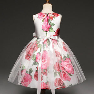 Girls Dress, Floral Girls Dress 1- 8 Yrs-Girls Dresses-LeStyleParfait.Com