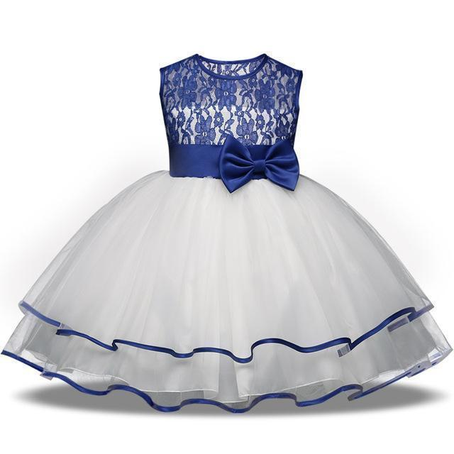 Girls Dress, Lace Flower Girl Dress 4-10 Yrs-Girls Dresses-LeStyleParfait.Com