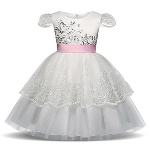 Girls Dress, Princess Floral Girl Dress 4-10 Years-Girls Dresses-LeStyleParfait.Com