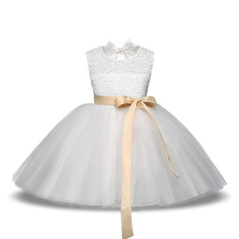 Girls Dress, Princess Flower Girl Dress 4-10 Yrs-Girls Dresses-LeStyleParfait.Com