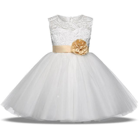 Girls Dress, Princess Lace Girl Dress 4-10 Years-Girls Dresses-LeStyleParfait.Com