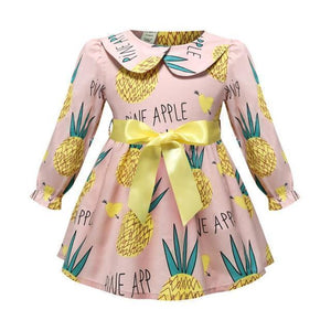 Girls Dress With A Bow, Baby Dress-Girls Dresses-LeStyleParfait.Com