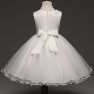 Girls Dresses, Christening Wedding Girl Dress 1- 8 Yrs-Girls Dresses-LeStyleParfait.Com