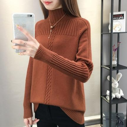 Go-Getter Turtleneck Women Sweater - Pullovers Online-LeStyleParfait.Com