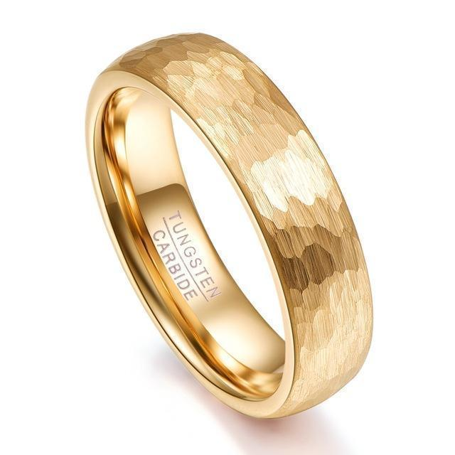Gold Wedding Rings Geometric Wedding Jewelry-Rings-LeStyleParfait.Com