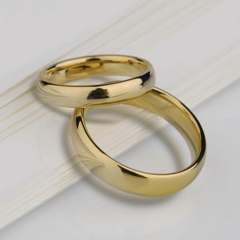 Gold Wedding Rings Tungsten Carbide Rings Bridal Jewellery-Rings-LeStyleParfait.Com