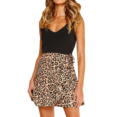 Happy Hour Leopard Mini Skirt Skirt LeStyleParfait.Com
