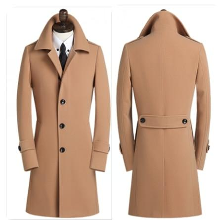 Harvey Wool Coat For Men-Coat-LeStyleParfait.Com