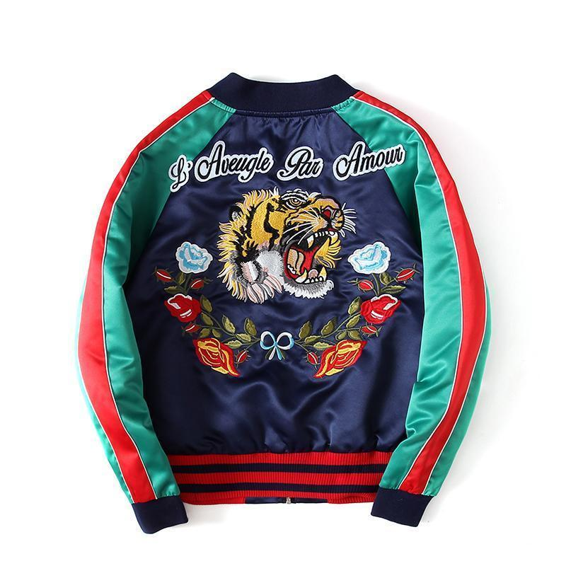 Japanese Tiger Embroidery Jacket-Jacket-LeStyleParfait.Com