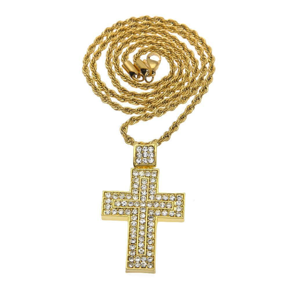 Jewelry Set, Luxury Gold Necklace, Watches, Diamond Cross Pendant-Jewelry Set-LeStyleParfait.Com
