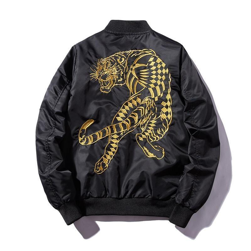 Jungle Tiger Bomber Jacket-Jacket-LeStyleParfait.Com