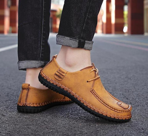 Keep Walking Leather Loafers-Shoes-LeStyleParfait.Com