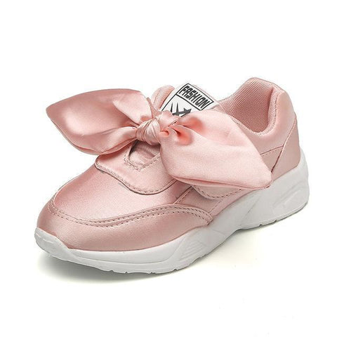 Kids Shoes Girls Sneakers With Bow Tie-Shoes-online-LeStyleParfait.Com