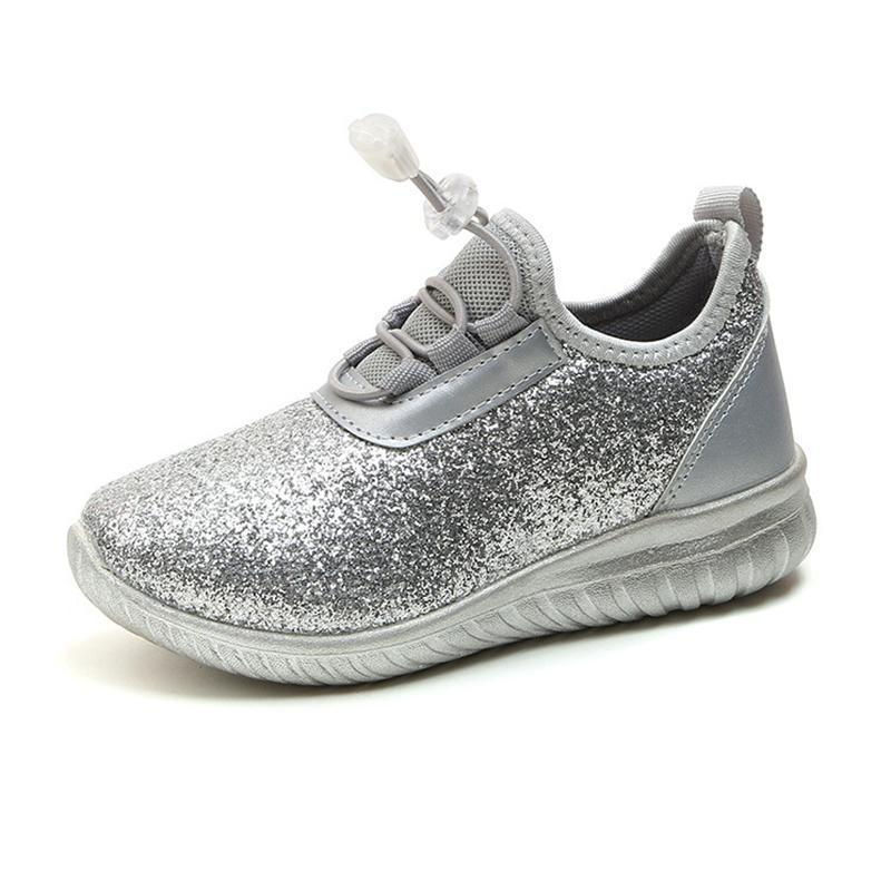 Kids Shoes Lace Up Sneakers Shinny Shoes-Shoes-online-LeStyleParfait.Com