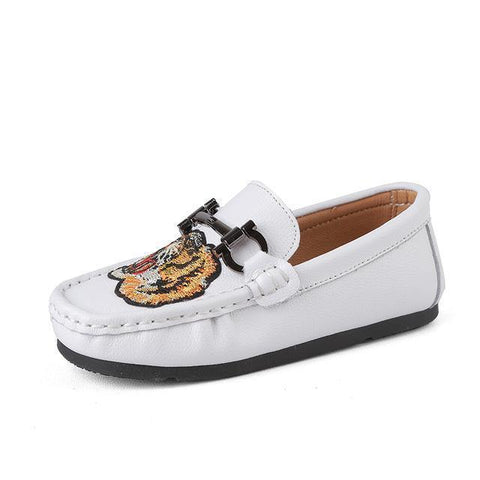 Kids Shoes Leather Mocassins Slip On Loafers Shoes LeStyleParfait.Com Online Shop White 1