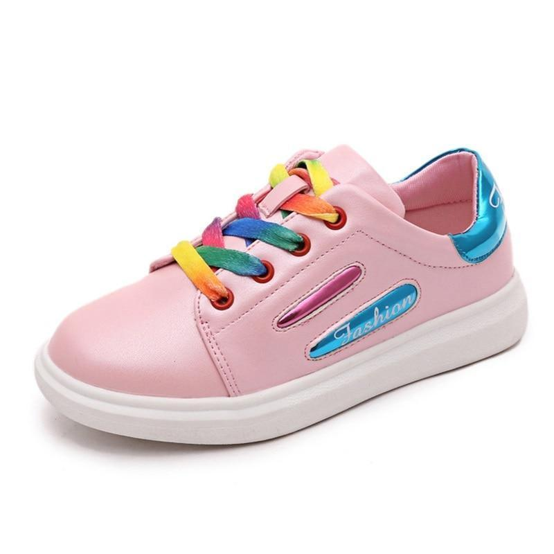 Kids Shoes Rainbow Skateboard Shoes-Shoes-online-LeStyleParfait.Com