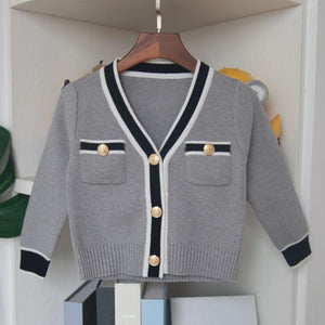 Kids Skirt Suit Girls Cardigan With Skirt Cothing Set-Kids Clothing Set-LeStyleParfait.Com