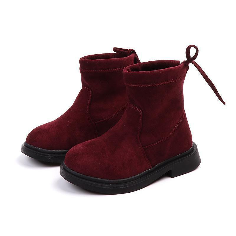 Kids Suede Shoes Ankle Boots For Girls-Shoes-LeStyleParfait.Com