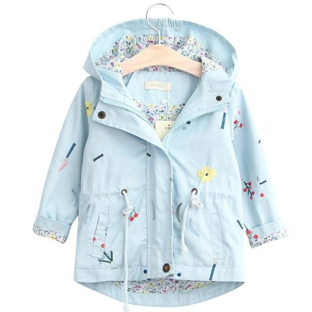 Kids Trench Coat Drawstring Children Fashion Jacket-Kids Jackets-LeStyleParfait.Com