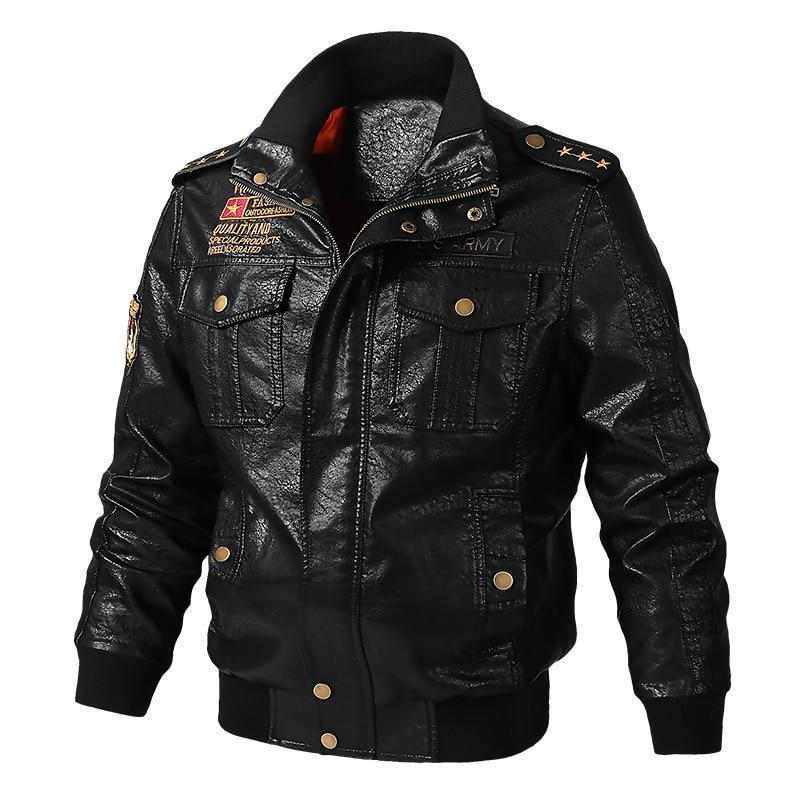 Leather Jacket, Men Winter Jacket, Motorcycle Jacket-Jacket-LeStyleParfait.Com