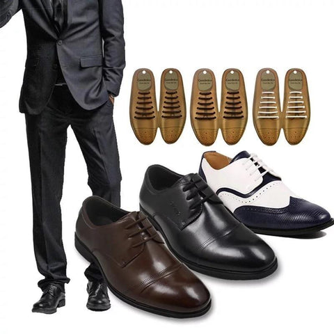 Leather No Tie Shoelaces For Dress Shoes 12pcs/set-Shoelaces-LeStyleParfait.Com