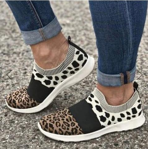 Leopard Print Women's Sneakers-Shoes-LeStyleParfait.Com