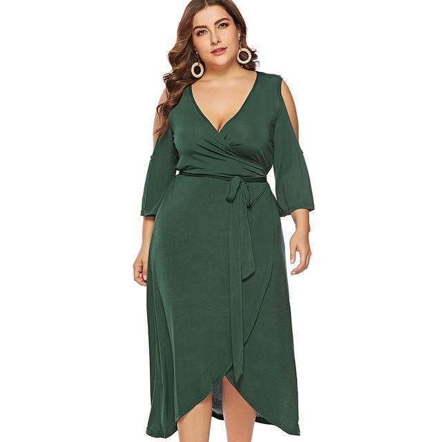 Living The Dream Plus Size Maxi Dress-Dress-Online-LeStyleParfait.Com
