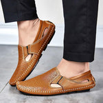 Mens Loafer Shoes, Driving Shoes, Genuine Leather-Shoes-LeStyleParfait.Com