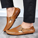 Loafers Genuine Leather Driving Flat Shoes Shoes LeStyleParfait.Com