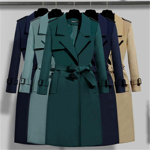 London Vibes Trench Coat For Women-Coat-LeStyleParfait.Com