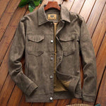 MacAnthony Suede Leather Jacket For Men- Autumn, Clothing, Fall, Jackets, Leather, Men, Men's, Men's Jackets, Plus Size, Suede, Winter-LeStyleParfait.Com