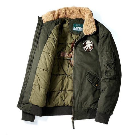 Maxime Men's Military Bomber Jackets- Autumn, Bomber, Clothing, Fall, Flight, Jackets, Men, Men's, Men's Jackets, Military, Plus Size, Winter-LeStyleParfait.Com