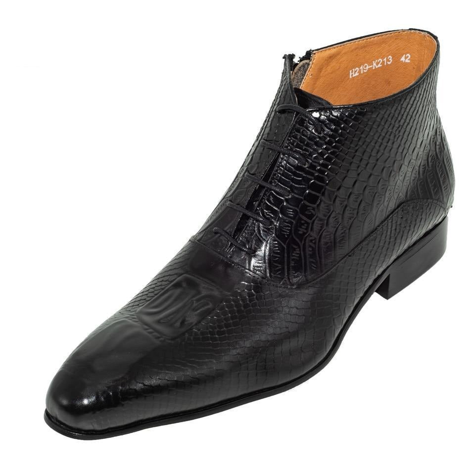 Men Dress Boots Luxury Brand Lace-up Ankle Boots Oxfords Shoes-Shoes-LeStyleParfait.Com