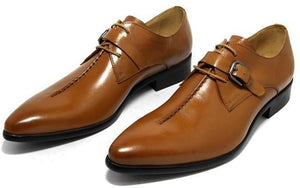 Men Dress Shoes, Business Shoes, Pointed Toe, Black, Brown, Light Tan-Shoes-LeStyleParfait.Com