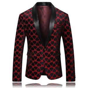 Men's Blazer Elegant Party Blazer Slim Fit-Blazer-LeStyleParfait.Com