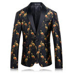 Men's Blazer Slim Fit Flamingo Print Party Blazer-Blazer-LeStyleParfait.Com