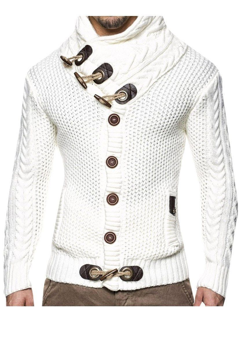 Men's Cardigan Knitted Elegant Sweater-Sweater-LeStyleParfait.Com