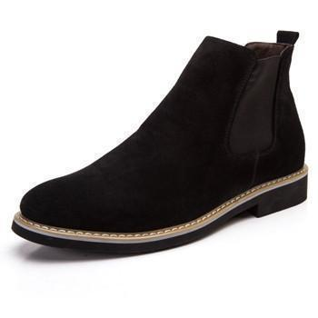 Men's Chelsea Boots, Men Suede Shoes, Black, Blue, Grey-Shoes-LeStyleParfait.Com
