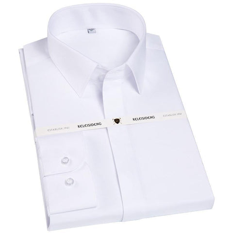 Men's Dress Shirt, French Square Collar, Long Sleeves