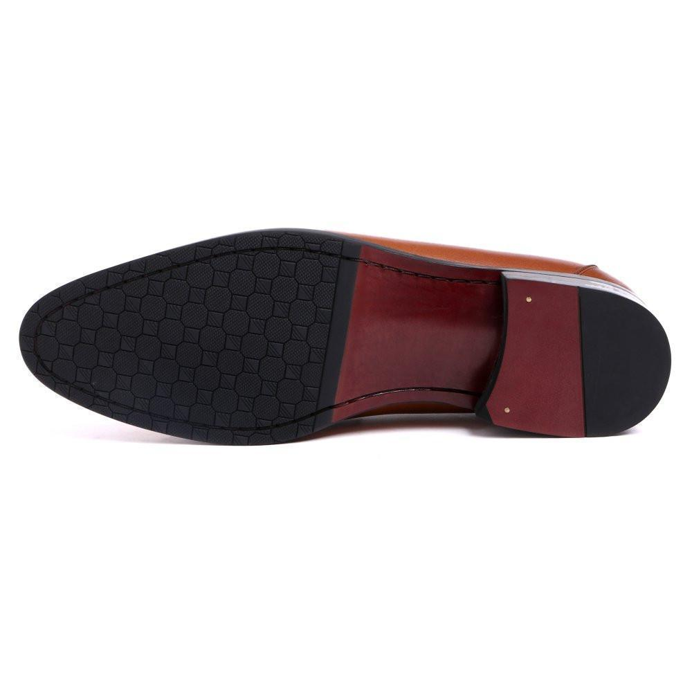 Men's Loafers Genuine Leather Loafer Shoes Black Brown-Shoes-LeStyleParfait.Com