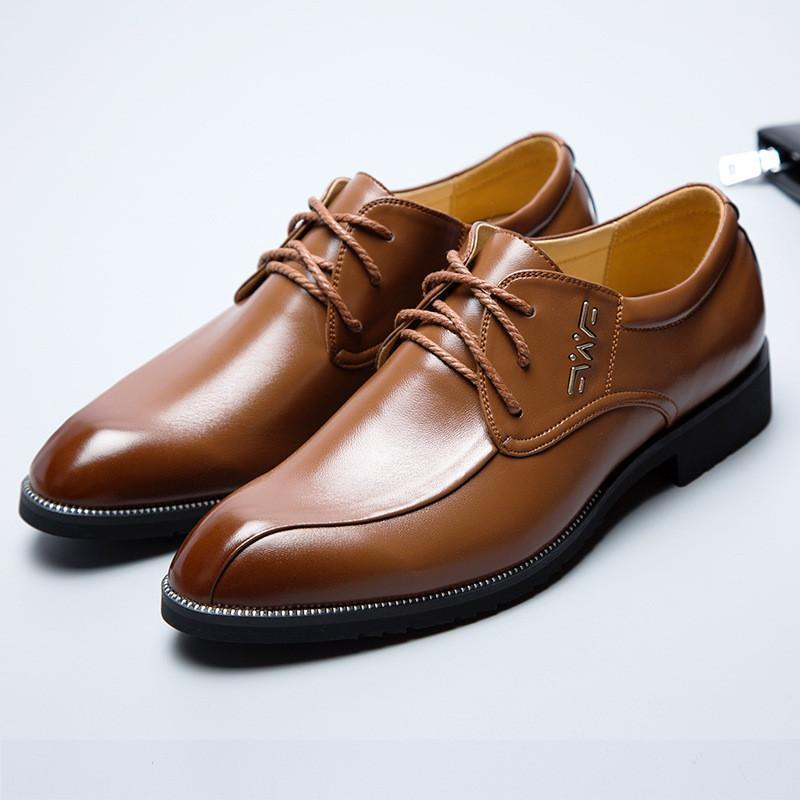 Men's Shoes Dress Shoes PU Leather Shoes Brown Black-Shoes-LeStyleParfait.Com