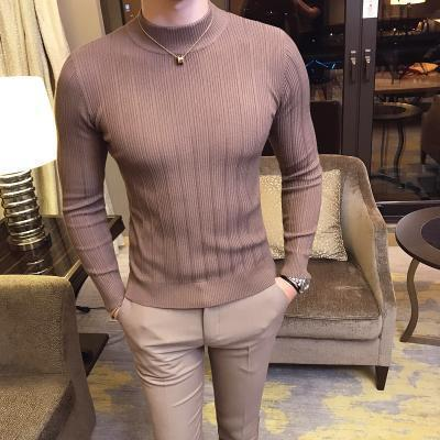 Men's Sweater Long Sleeve Striped Pattern Sweater-Sweater-LeStyleParfait.Com